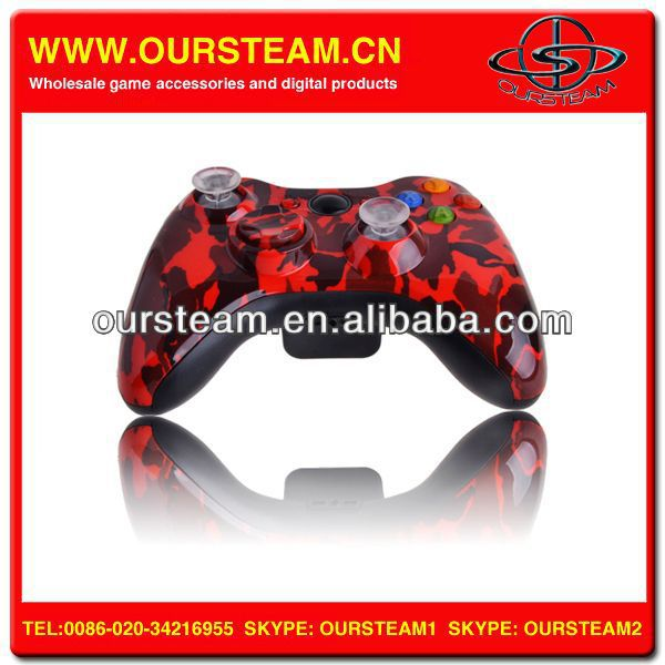 Red Camo Wireless Game Pad Gamepad Console Controller For Xbox 360
