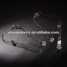 Wholesale Trendy TPU transparent Black Rhinestone Zodiac Pretty Bra Straps for lady