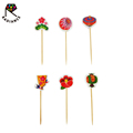 80mm Birch Wood Flag Toothpicks Food Decorating Toothpicks Party Toothpicks