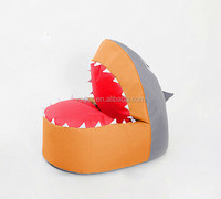 shark shape beanbag ,made by 600D oxford with pvc coating