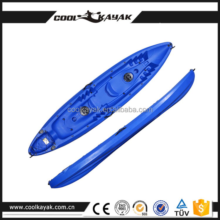 Coolkayak 3 person boat no inflatable sit on top safety family kayak