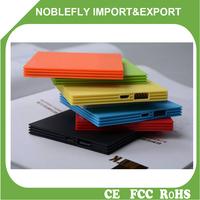 Free Sample Portable Ultra Slim Credit Card Full Capacity External Battery Power Supply 5000mAh