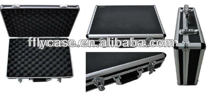 leather gun case with foam and sponge inside,size 480*330*150mm