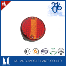 12V VOLT LED REAR ROUND HAMBURGER TAIL LAMP LIGHT LORRY TRUCK TRAILER