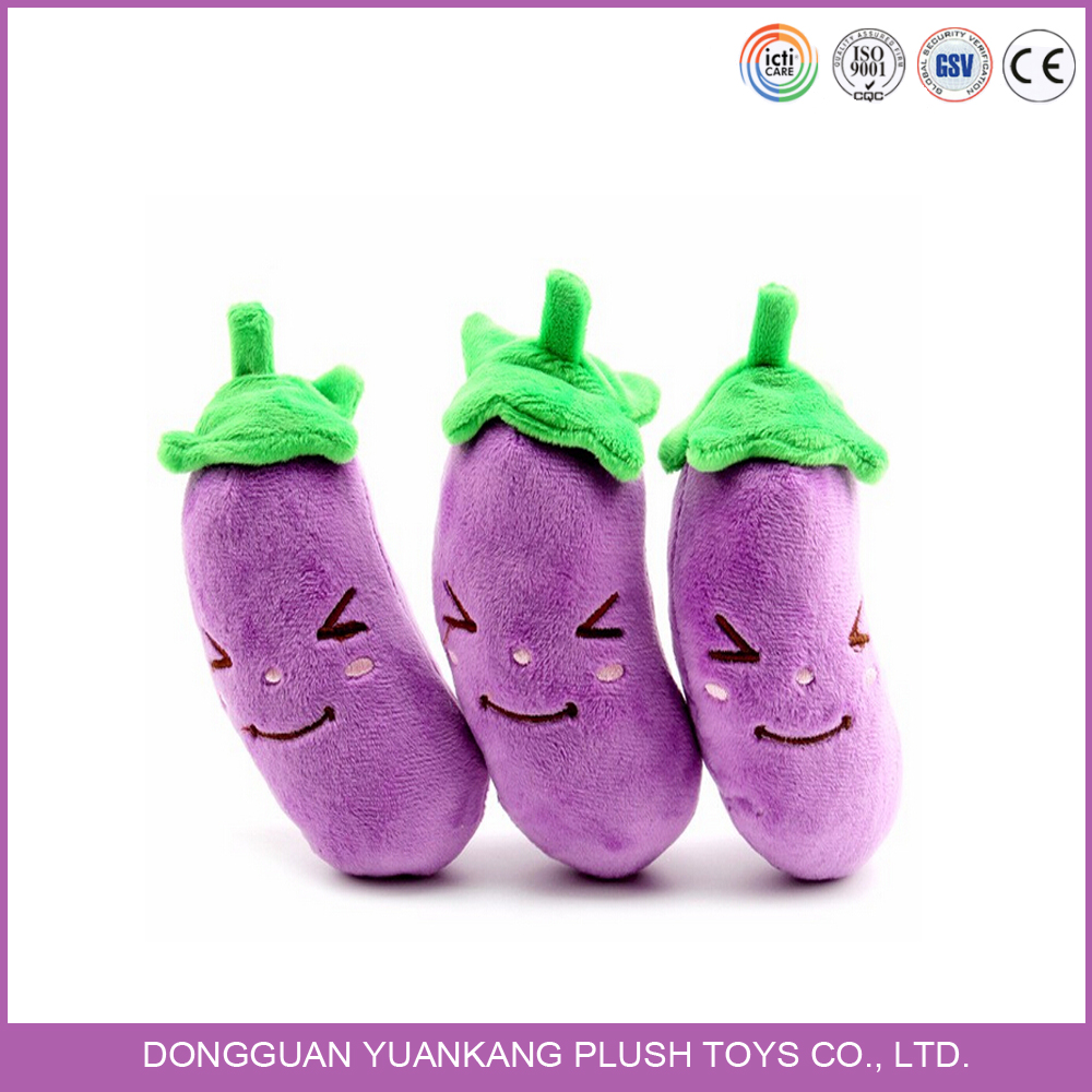Lovely purple eggplant shaped plush vegetable pillow toy