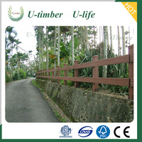 Outdoor WPC wooden balustrade and railing