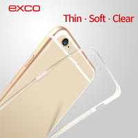 EXCO new products factories in Guangzhou custom transparent mobile phone cover soft TPU cell phone case for iPhone 6s