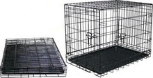 black Folding Dog Crate Cage Kennel Pet Products
