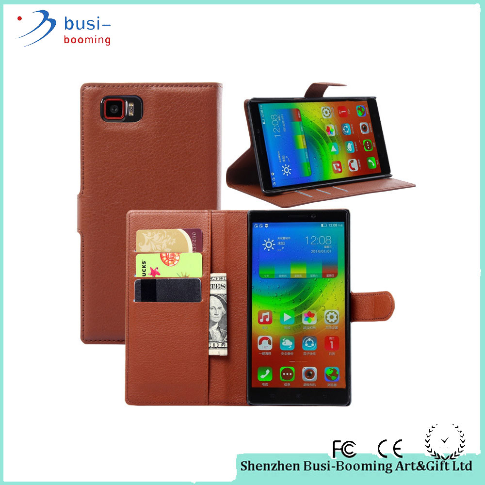 China Supplier PU Leather Wallet Style Mobile Phone Case For Lenovo S820