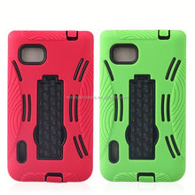 2014 hot sell pc silicon case for lg optimus f3 ms659 kickstand case for lg f3