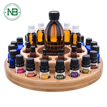 Essential Oil Bamboo Wooden Box Storage Carousel