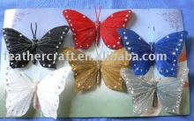 make a feather butterfly