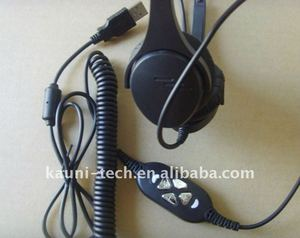 call center usb headset/telephone headset with Microphone,Mute button+volume adjustment button