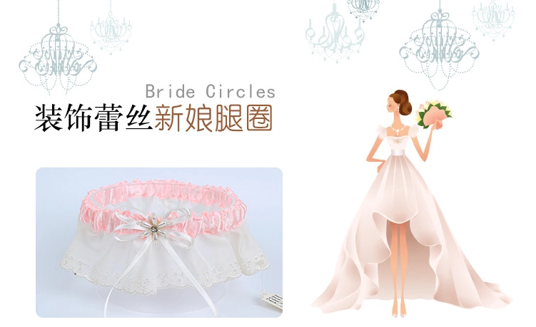 Europe And The United States Garter Belt Sexy Bridal Garter Belt On Wholesale Market