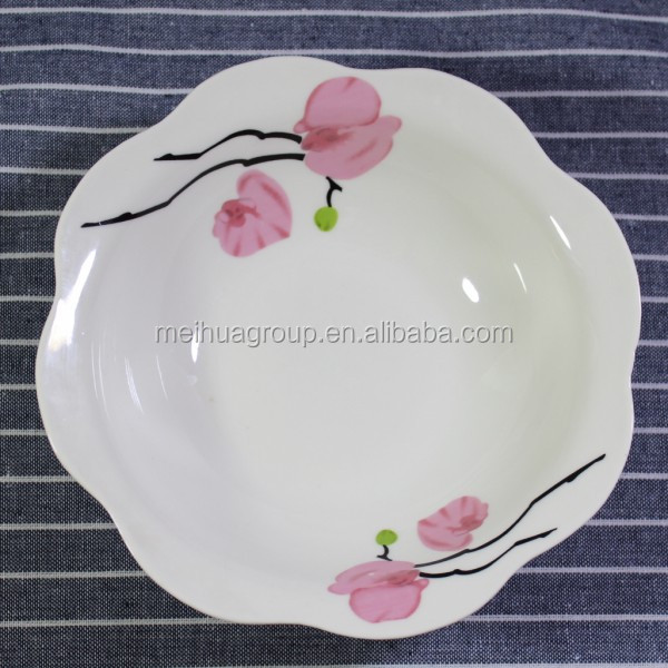 porcelain lotus leaf shape soup plate ceramic
