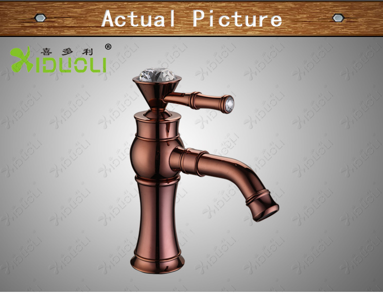 2015 New style good quality rose gold modern faucet