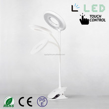 competitive price 7w Clip on Touch Control brightness Dimmable led desk light oem factory