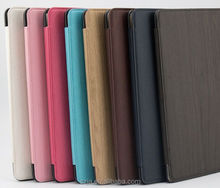 PU Leather stand case for ipad mini 1 2 3 Imitation leather Wood for iPad mini