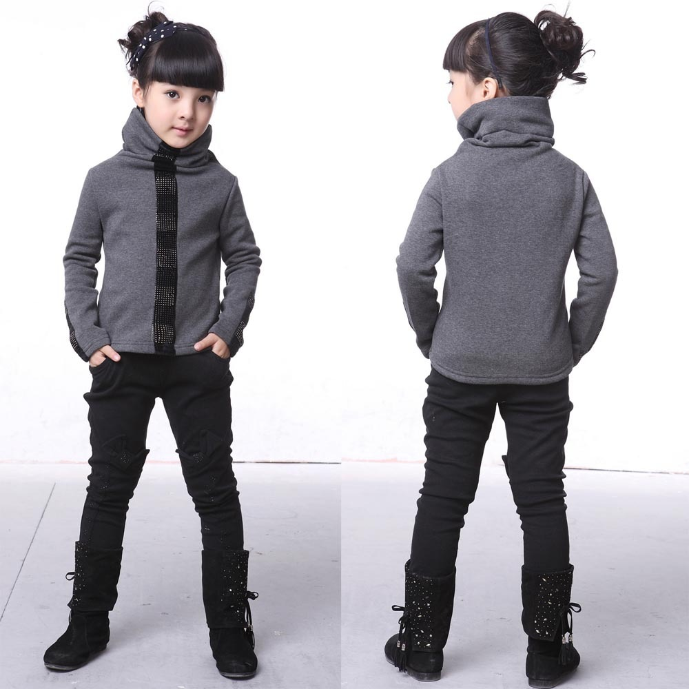 Children's clothing female child autumn 2012 child trousers child trousers boot cut jeans skinny pants legging thickening