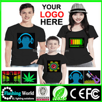 Hot selling High quality EL Tshirt,led tshirt