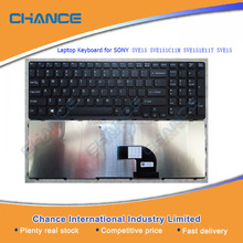 Laptop Keyboard for SONY SVE15 SVE151C11M SVE151E11T SVE15, Made in China Notebook Keyboard Replacement