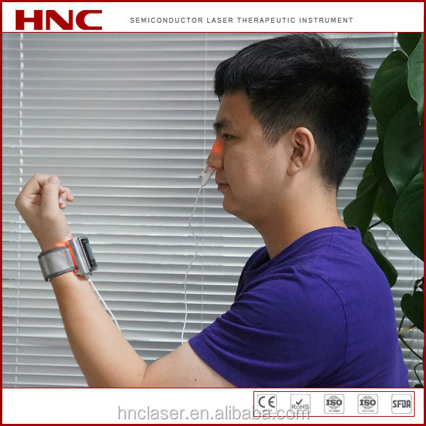 CE, ROHS certified China factory offer rhinitis laser physiotherapy equipment wrist watch