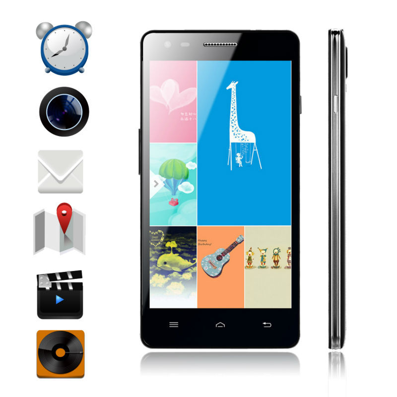 Cheapest Smart Phone 4G vkworld vk1000 RAM 1G ROM 4G 5 inch Big Screen Android 4.2 Phone/8.0 MP Camera