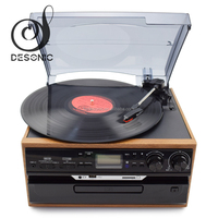 Hot selling record vinyl machine to cd record player with audio aux