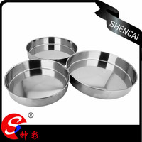 Traditional cake plate 3pcs sest baking tray,stainless steel steam food tray