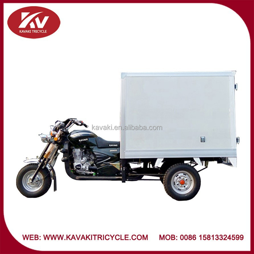Popular China high quality closed cargo box powerful fashion tricycle wholesale