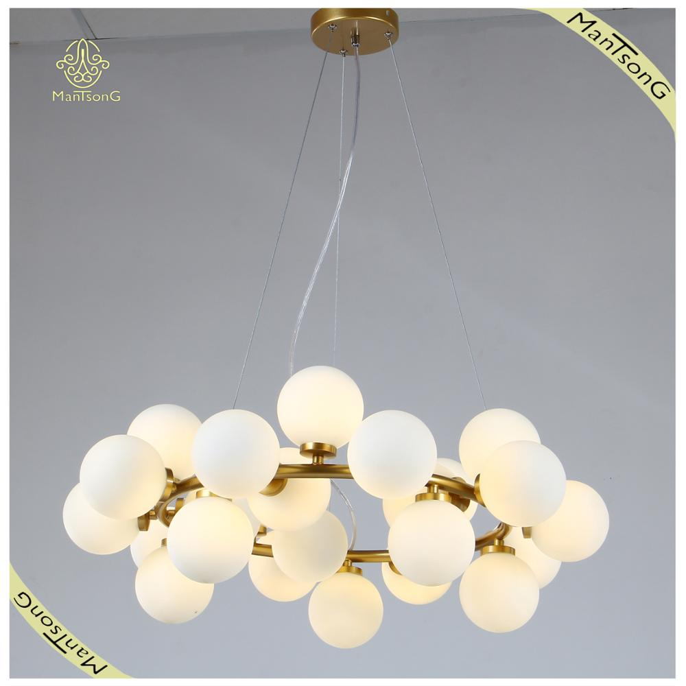 Factory Wholesale Fancy Children Room Decorative Lamp Nordic Style Modern Light G4 LED Iron Glass Pendant Lighting
