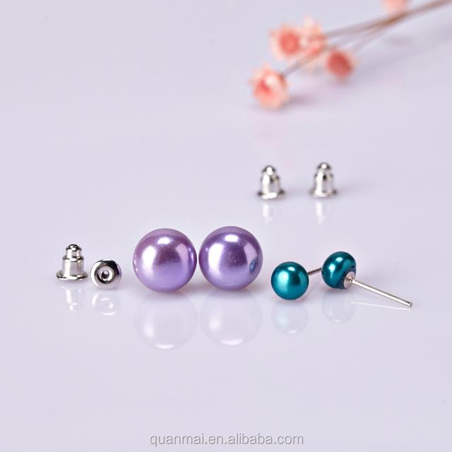 Maverick Wholesale Beaded Earring Chic High Quality Varied Colors Pearl Big Medium Small Stud Earrings 36 Pairs Set