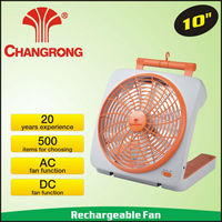 10inch dry battery power rechargeable cheap promotional fan