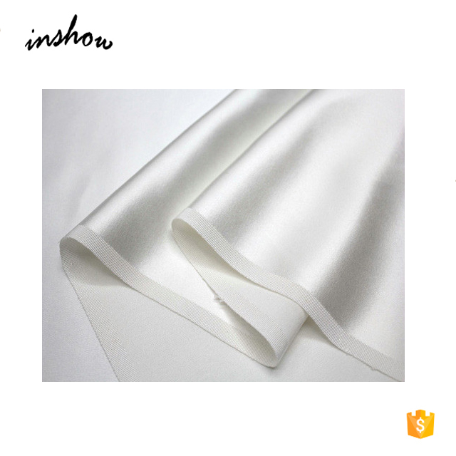 Custom Printed 100% Silk Satin Fabric Nature White