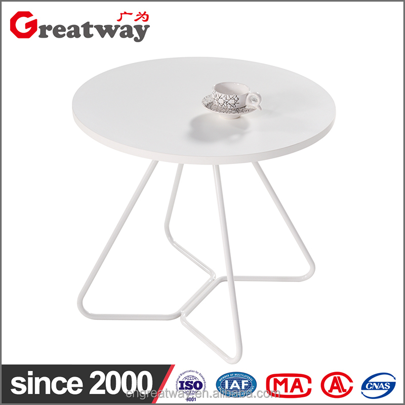 Round frame for coffee table MCF/GLASS top furniture hardware (QS-12)