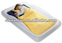 PVC Flocked Inflatable Camping Air Mattress for children