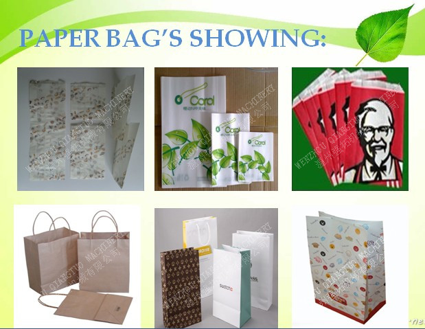 High Speed Fully Automatic window bag / food grade paper bag making machine price