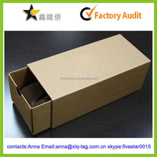 2015 Recoverable Kraft paper accept custom watch storage box