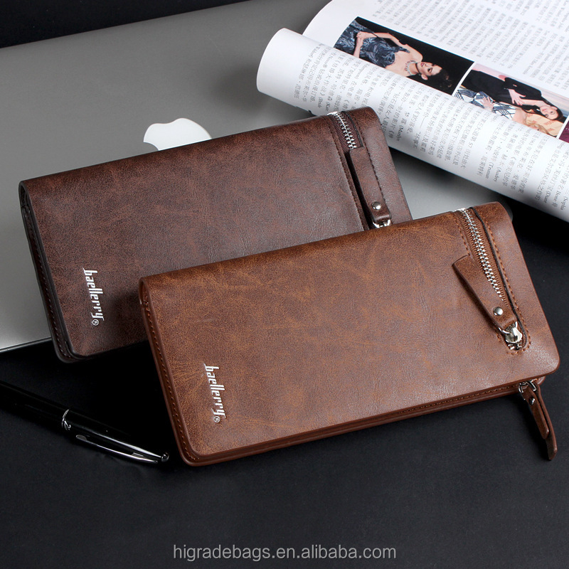 hotsale Baellery Men Business PU leather wallet for young man