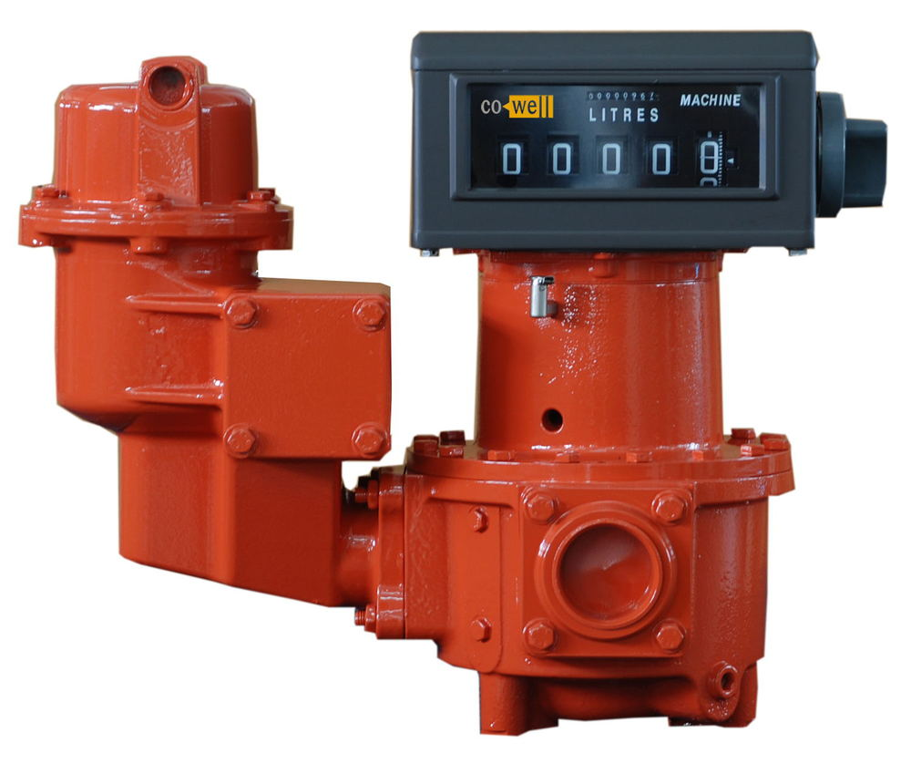 Real Gravity fuel flow meter for tank oil unloading