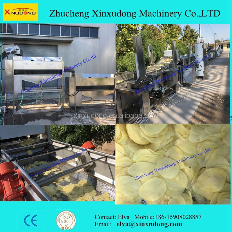 Automtatic Frying Potato Chips Machine