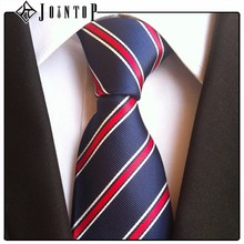 china quality supplier stock red black stripe tie