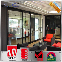 aluminum alloy air vents sliding door with double glass for bedroom