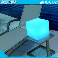 Outdoor RGB color changing waterproof chair lighting 3d led cube