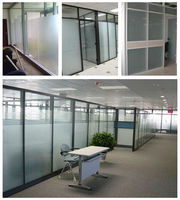 High quality office partition wall translucent opaque frosted glass price
