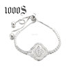 Adjustable Clover Bracelet 925 Sterling Silver