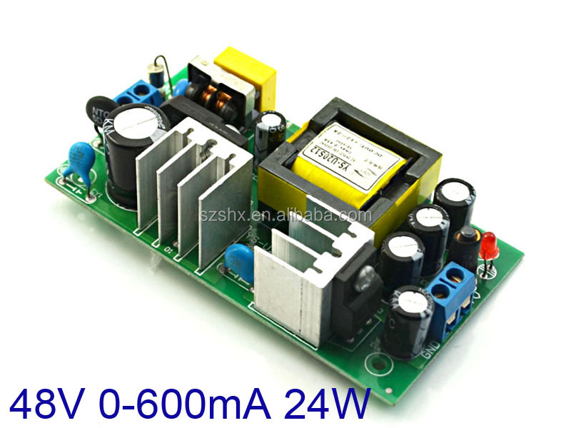 ac voltage regulator circuit 240V 230V 220V 110V ac to 48v <strong>dc</strong> 500mA 0.5A 24W converter bare board for wall adapter wholesaler