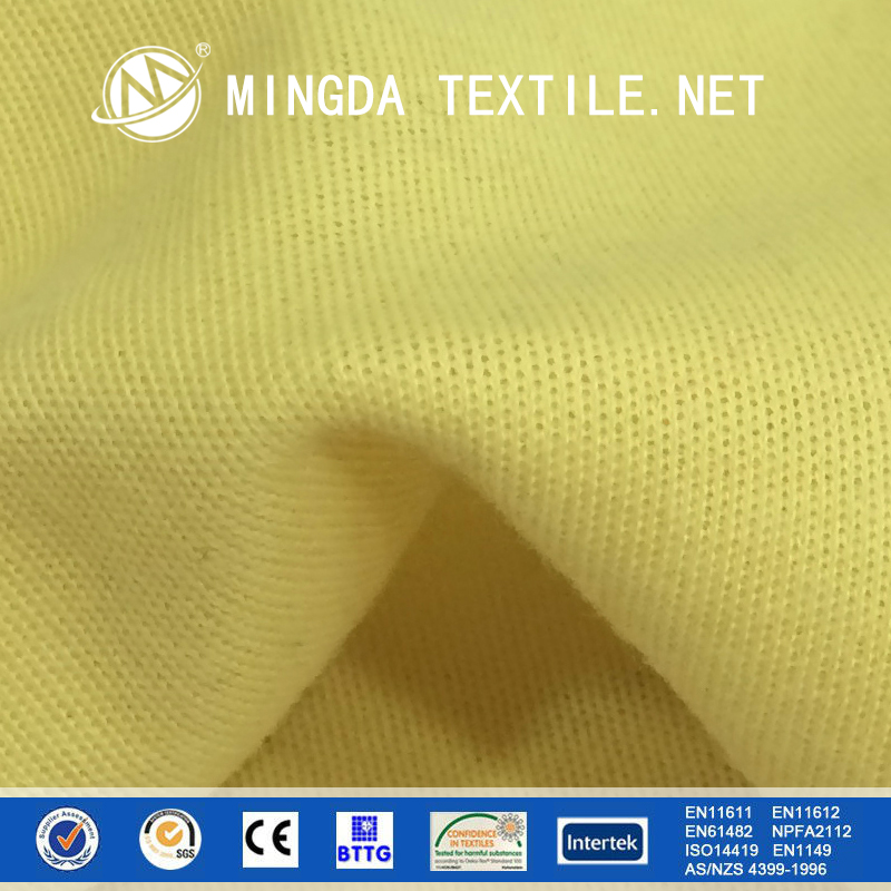 Cheap Plain 100% 1414 knitted heat resistant anti-cut kevlar fabric price