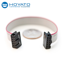 Hoyato 10 pin flat ribble cable wire harness, 2x5 IDC ribbon cable for computer