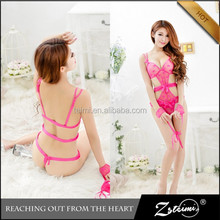 Low Price Red Transparent Lace Teddy Underwear Tempting Sexy Japanese Lingerie